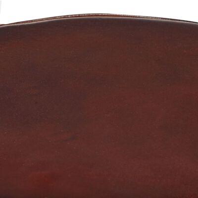 vidaXL Tabourets de bar 2 pcs 66 cm Cuir véritable