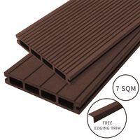 Jardí - Lame De Terrasse En Composite De 7m², Couleur «conker Brown»