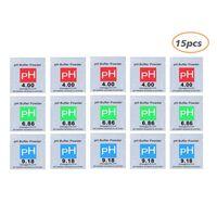 Pack de 15 poudres tampons pour pH-mètres 4.9 / 6.86 / 9.18