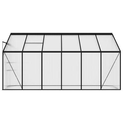 vidaXL Serre Anthracite Aluminium 7,44 m³