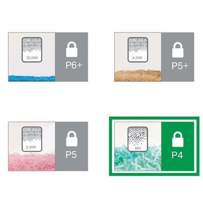 Leitz Déchiqueteuse de papier CrossCut IQ Office Pro P4