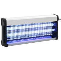 vidaXL Lampe anti-insectes Noir Aluminium ABS 40 W