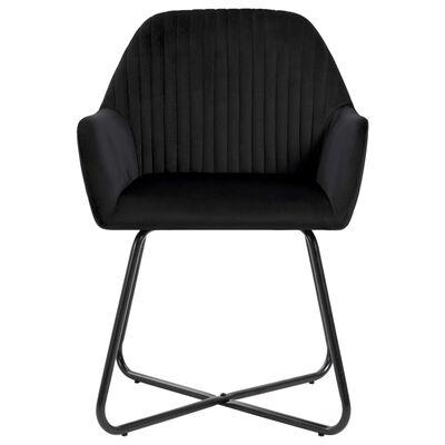 vidaXL Chaises de salle à manger 4 pcs Noir Velours