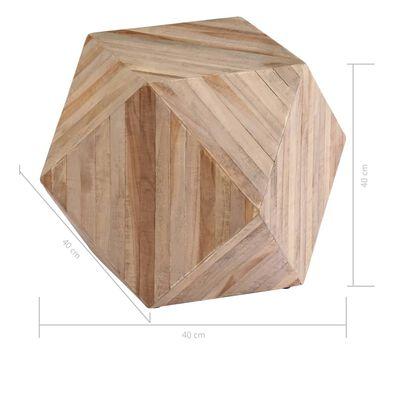 vidaXL Table d'appoint Teck recyclé 40x40x40 cm