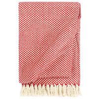 vidaXL Couverture en coton 125 x 150 cm Rouge