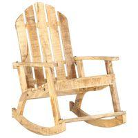 vidaXL Chaise à bascule de jardin Bois de manguier solide