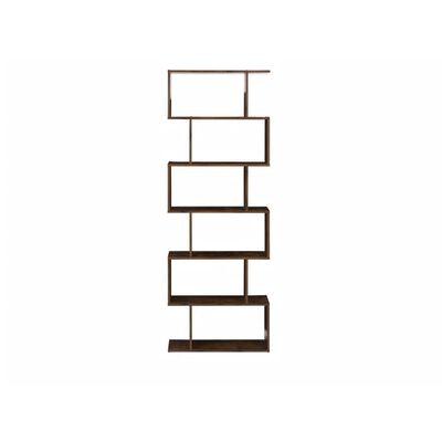 Bibliothèque design effet bois foncé 6 niveaux VALDOSA