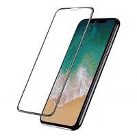 Protecteur d'écran pour iPhone X / XS - verre trempé - noir