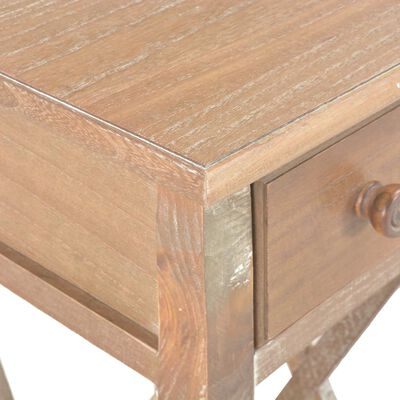 vidaXL Table d'appoint Marron 27 x 27 x 65,5 cm Bois