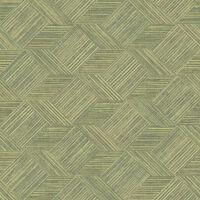 Evergreen Papier peint Wicker Natural Vert