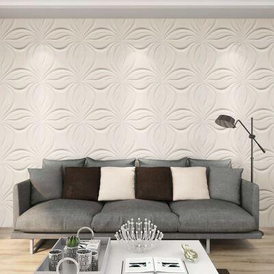 vidaXL Panneaux muraux 3D 24 pcs 0,5x0,5 m 6 m²