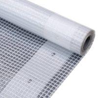 vidaXL Bâche Leno 260 g/m² 1,5 x 15 m Blanc