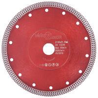 vidaXL Disque de coupe diamanté avec trous Acier 180 mm