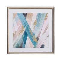 Tableau décoratif multicolore 60 x 60 cm RUMBEK