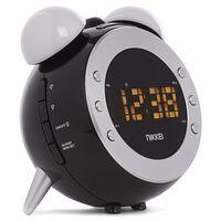 Nikkei Horloge de projection avec radio FM NR280P Noir