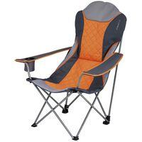 Eurotrail Chaise de camping Elba Orange et gris