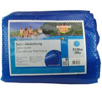 Summer Fun Couverture solaire de piscine d'été Rond 350 cm PE Bleu