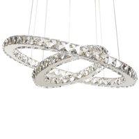 Lampe de suspension LED argentée ANNAS