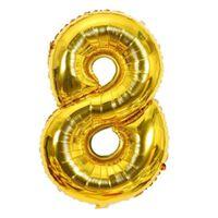 Ballon 53 cm, numéro 8 - or