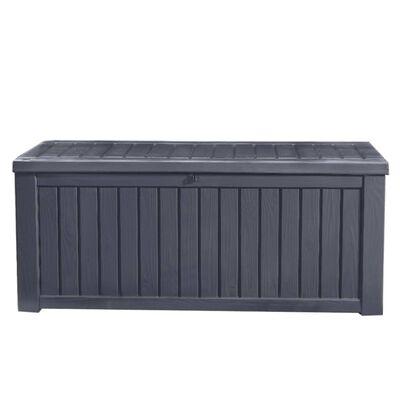 Keter Boîte de rangement de jardin Rockwood 570 L Anthracite