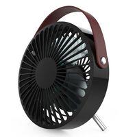 Perel Ventilateur à USB portable Noir et marron