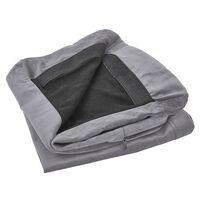 Housse en velours gris pour canapé 2 places BERNES