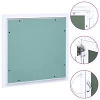 vidaXL Panneau d'accès Cadre en aluminium plaque de plâtre 400x400 mm