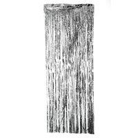 Rideau festif à paillettes, couleur argent 1x2 mètres