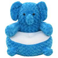 vidaXL éléphant en peluche Bleu