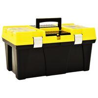 vidaXL Boîte à outils Plastique 595x337x316 mm Jaune