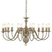 vidaXL Lustre Blanc antique 12 ampoules E14