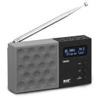 Nikkei Radio DAB de poche avec alarme NDB30BK Gris et noir