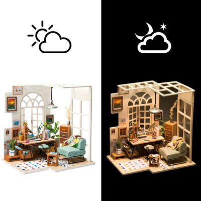 Robotime Kit de maquette SOHO Time avec lumière LED