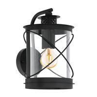 EGLO Lampe murale d'extérieur Hilburn 20x20x28 cm Noir