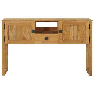 vidaXL Table console 120x32x75 cm Bois de teck massif