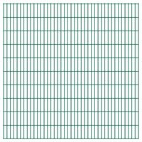 vidaXL Panneaux de clôture de jardin 2D 2,008x2,03 m 28 m total Vert