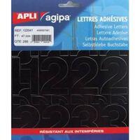 Chiffres et symboles Autocollant 47 x 31 mm Noir - APLI AGIPA
