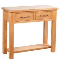 vidaXL Table console avec 2 tiroirs 83x30x73 cm Bois de chêne massif