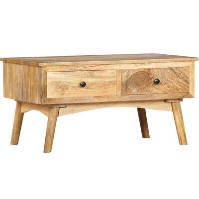 vidaXL Table basse 82x52x42 cm Bois de manguier massif