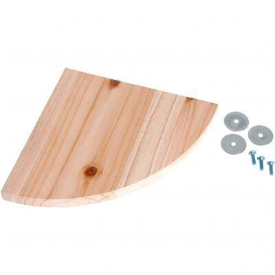 Planchette bois nat 22x22x1.8cm