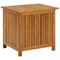 vidaXL Boîte de rangement de jardin 60x50x106 cm Bois d'acacia solide