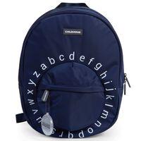 CHILDHOME Sac à dos scolaire pour enfants ABC Bleu marine et blanc