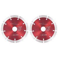 vidaXL Disques de coupe diamantés 2 pcs Acier 125 mm