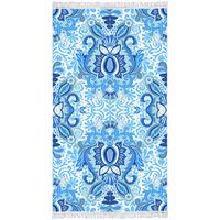 Happiness Serviette de plage YOGI 100x180 cm Bleu