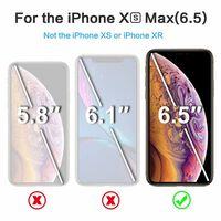 Verre de protection d'écran pour iPhone XS Max en verre trempé - noir