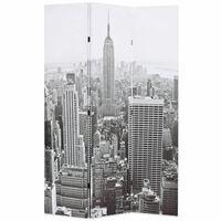 vidaXL Cloison de séparation pliable 120x170 cm New York Noir et blanc