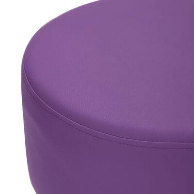 vidaXL Tabourets de bar 2 pcs Violet Similicuir
