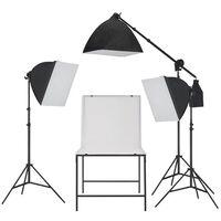 vidaXL Kit de studio de photo avec table de prise de photos
