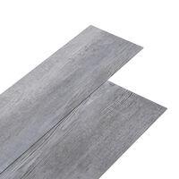 vidaXL Planches de plancher PVC 5,02 m² 2 mm Autoadhésif Gris bois mat