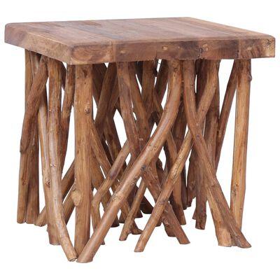 vidaXL Table basse en rondin 40x40x40 cm Bois solide